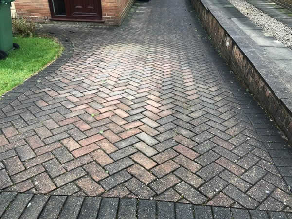 block paving dirty