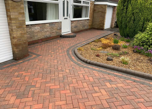 afetr block paving cleaned